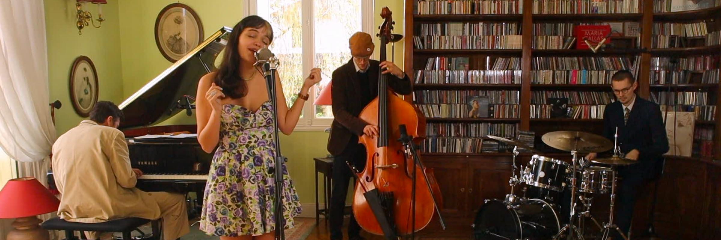 Elisa Lécuyer, groupe de musique Jazz en représentation à Paris - photo de couverture