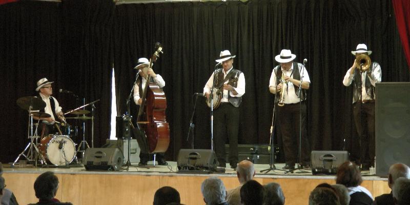 MAMAN N'VEUT PAS Jazz New Orleans, groupe de musique Guitariste en représentation - photo de couverture n° 2