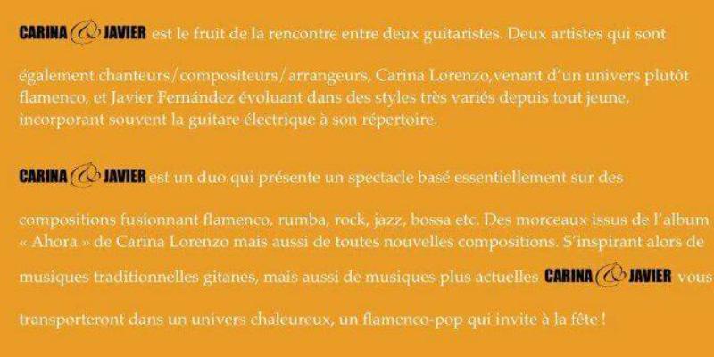 Carina Lorenzo, musicien Musiques du monde en représentation - photo de couverture n° 2