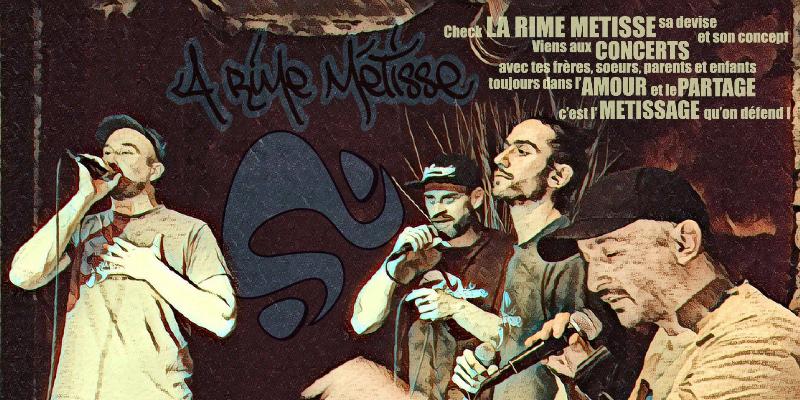 La Rime métisse, groupe de musique Hip-Hop en représentation - photo de couverture