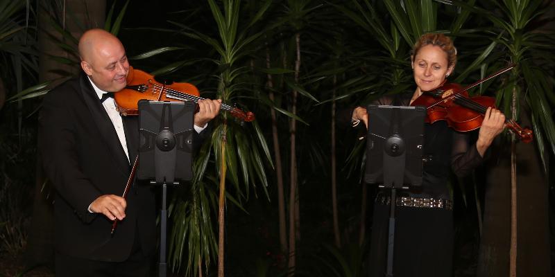 Violin Duo, musicien Acoustique en représentation - photo de couverture
